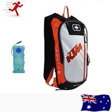 10L KTM Hydration Backpack with 2L Water Bladder Bag Rucksack Camping Hiking