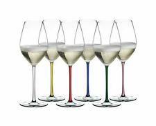 Riedel Hand Made Set 6 Goblets Champagne Wine Glass Stems Colourful 7900/28 P