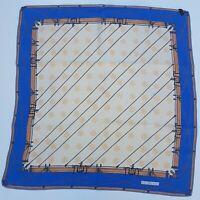foulard celine paris carrè scarf 100% silk pura seta original vintage made italy