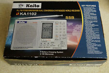Ka1102 Kaito FM stereo/MW/SW/SSB dual conversion world receiver works