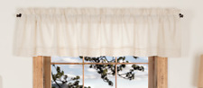 SIMPLE LIFE FLAX Natural Valance Country Primitive Farmhouse VHC Brands 16x72