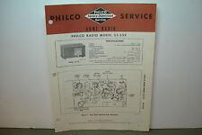 PHILCO RADIO SERVICE MANUAL MODEL 53-559