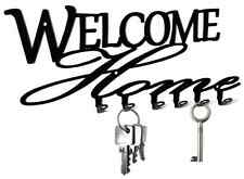 Welcome Home - Key Hook, Wall, Holder - design steel, black and beautiful. NEW