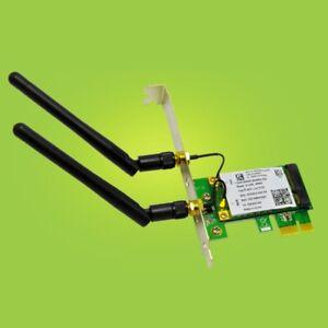 Wireless WiFi PCI-E Card 2030Mbps 2.4G/5G Dual Band Network Adapter F/ Desktop
