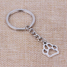 2pcs Creative Cute Dog Paw Metal Keychain Key Chain Key Ring Cool Gift Man Women