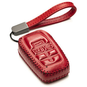 Vitodeco 5-Button Leather Smart Key Fob Case Cover for 2021-up Toyota Rav4 Prime
