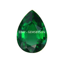 Lab Created Hydrothermal Emerald Green Pear Loose stone AAA (4x2mm - 18x13mm)