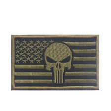Punisher Skull Tactical Path  US Military Airsoft Hat American Flag Badge