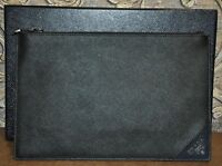 Authentic New Men's Prada Black/Baltico Saffiano Leather Document Case
