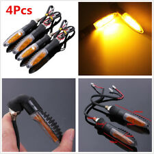 4Pcs 12V Amber Motorcycle LED Turn Signal Light Indicator Blinker Lamp Bendable