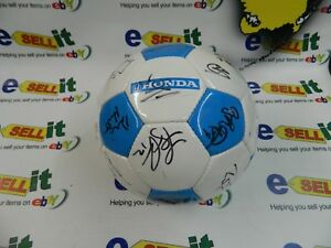 Autographed Honda Soccer Ball Chicago Fire Primary Soccer Team 2003