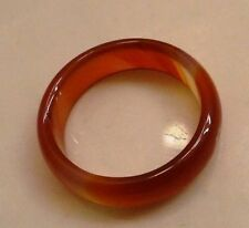 Smooth Round Solid Red Carnelian Ring Band Size 7  New Unisex Gift