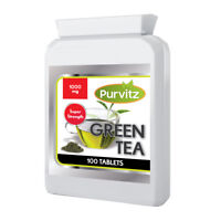 Green Tea Extract 1000mg 100 Tablets for Weight Loss Fat burner Slimming Pills