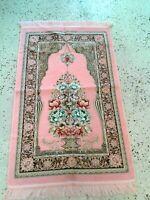 Islamic Prayer Rug Muslim janamaz Mat Turkish Quality Sajadah chenille FREE SHIP