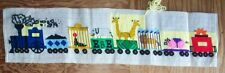 Started needlepoint animal train salvage project