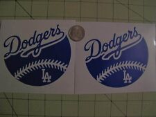 LA Dodgers 2X  4 inch Baseball car decal