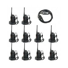 10 Pack Walkie Talkie 2 Two Way Radio Frs Gmrs Mile Camping Paintball Handheld
