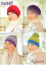 Stylecraft 9222 Knitting Pattern Hats in Stylecraft Ombre