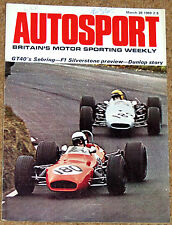 Autosport 28/3/69* SEBRING 12 HRS -MONZA 4HRS - DUNLOP TYRES STORY - RAPIER H120
