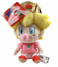 "Little Buddy Super Mario Bros 1249 Nintendo 5"" Baby Peach Stuffed Plush Toy Doll"