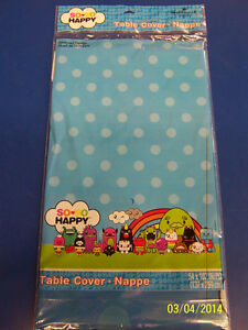 So So Happy Be Lucky Spread Love Live Kids Birthday Party Plastic Tablecover