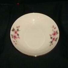 Royal Devon Soup Coupe Bowl Pink Flower Buds Gold Rod13