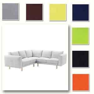 Custom Made Cover Fits IKEA Norsborg Corner Sofa 2+2, Sectional Sofa Cover