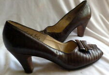 Vintage 1930s Reptile Leather Shoes Heels Size 7 1/2