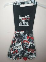 The Walking Dead Women's Apron Osfm With Pockets Comic Book Style Adjustable