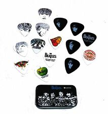 Beatles Guitar 15 Picks Signature Series Sgt. Peppers Planet Waves Pick Tin
