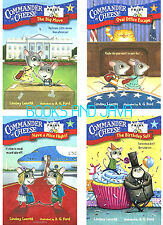 COMMANDER IN CHEESE Stepping Stones Bk 1-4 pb Lindsey Leavitt white house mice