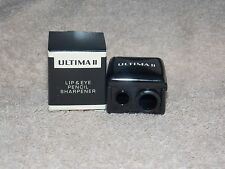 Ultima II LIP & EYE Pencil Sharpener 3 Pencil Sizes Removeable Adapter New Box