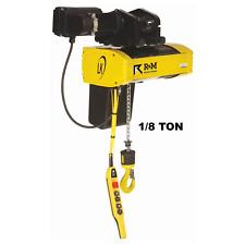 R&M Lk Electric Chain Hoist - 1/8 Ton, 20 Ft Lift, 16 Fpm, Motorized Trolley
