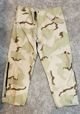US Army Gore-Tex Desert DCU Cold Weather Rain Pants - XL Long - Appear Unused