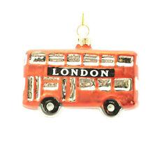 Gisela Graham : Christmas Decoration : Painted Glass London Bus