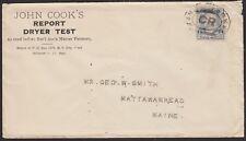 1890 1¢ FRANKLIN #219 ON UNSEALED CIRCULAR, PAINT RELATED, MATTAWAMKEAG ME, RCVR