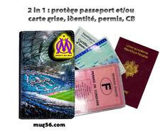 olympique marseille OM 01-03 protège carte grise d'identité permis passeport