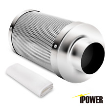 "iPower 4"" 6"" 8"" 10"" 12"" Inch Air Carbon Filter Virgin Charcoal for Inline Fan"