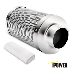 """iPower 4"""" 6"""" 8"""" 10"""" 12"""" Inch Air Carbon Filter Virgin Charcoal for Inline Fan"""
