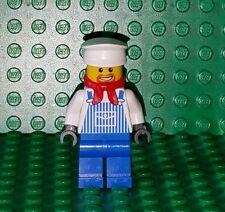 Lego City Train Engineer Max Minifigure blue stripes red bandana scarf Conductor