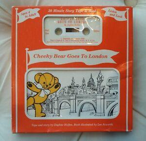 NIP New Cheeky Bear Goes To London Daphne Hoffen Cassette Tape & Book 1983 RARE