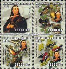 Mosambik 2540-2543 postfris MNH 2002 Persoonlijkheden