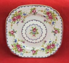 """Royal Albert """"Petit Point"""" Pattern Bone China Bread and Butter Plate (Square)"""