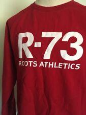 VTG 90s ~ ROOTS ATHLETICS R-73 RAGLAN SWEATSHIRT ~ Red ~ Kangaroo Pocket ~ XL