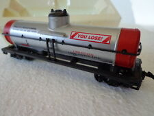MODEL POWER HO SCALE HEAVY WT. SINGLE DOME TANK CAR O. LIFESAVER