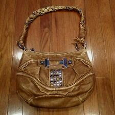 Guess Light Brown Shoulder Bag Handbag Purse Some Cosmetic Damage