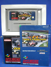 F1 Pole Position Super Nintendo (SNES) Boxed with Instructions - Cleaned+Tested
