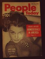 Vintage People Today March 26, 1952 Magazine Janet Leigh - Ike's Campaign