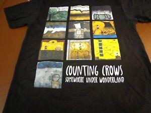 Counting Crows SOMEWHERE UNDER WONDERLAND Tour 2015 Black T-Shirt  Medium New o9