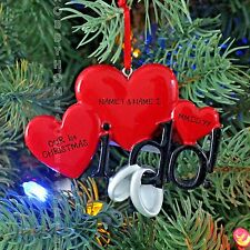 Engagement YES i DO Rings Engaged Personalized Christmas Tree Ornament New